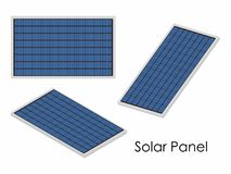 Painel solar colorido Fotografia de Stock Royalty Free