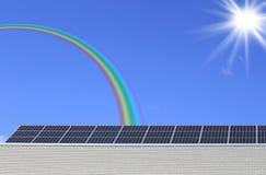 Painel solar de encontro ao céu azul Imagens de Stock Royalty Free