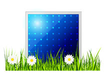 Painel solar do vetor. Ícone. Fotos de Stock Royalty Free