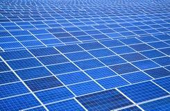 Painel solar e central energética Fotografia de Stock Royalty Free