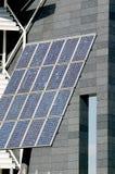 Painel solar e um close-up do usuário Imagem de Stock Royalty Free