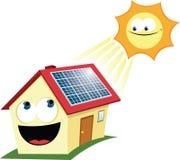 Painel solar engraçado Imagem de Stock