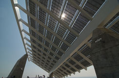 Painel solar enorme Foto de Stock