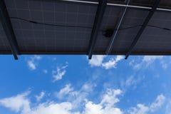 Painel solar, fonte alternativa da eletricidade - o conceito de recursos sustentáveis, e este são um sistema novo que possa gerar fotos de stock