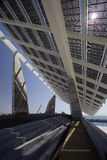 Painel solar gigante, Barcelona foto de stock royalty free