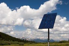 Painel solar no céu II foto de stock royalty free