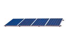 Painel solar no fundo branco Fotografia de Stock Royalty Free