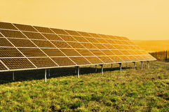 Painel solar, potência renovável do sol Fotos de Stock
