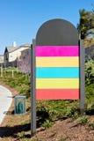Painel vazio do sinal da cor Fotografia de Stock Royalty Free