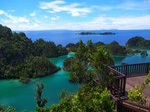 Painemo, Raja Ampat, West-Papoea stock fotografie