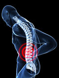 Painful back Royalty Free Stock Photo