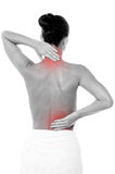 Painful back hurting a lot. Royalty Free Stock Photography