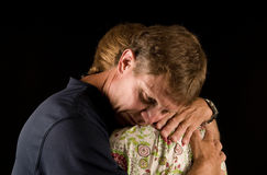Painful embrace Royalty Free Stock Images