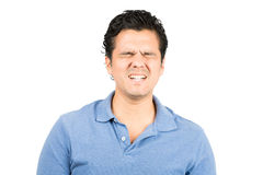 Painful Facial Expression Hispanic Male Grimacing Royalty Free Stock Photography