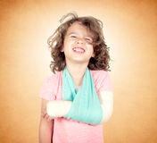 Painful facial expression on kid Royalty Free Stock Photo