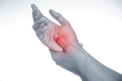 Painful hand Royalty Free Stock Photos
