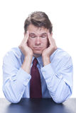 Painful headache Stock Images