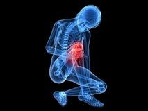 Painful knee Stock Photos