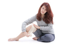 Painful knee Stock Photography