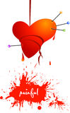 Painful love, bleeding voodoo heart Royalty Free Stock Photos
