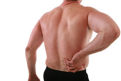 Painful Man Holding His Back Stock Images