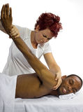 Painful Massage Royalty Free Stock Photography