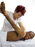 Painful Massage Royalty Free Stock Photography