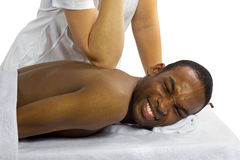 Painful Massage Royalty Free Stock Photos