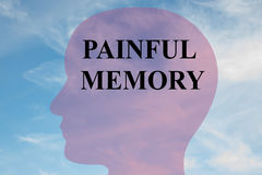 Painful Memory - mental concept Royalty Free Stock Images