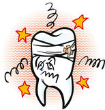 Painful saw tooth illustration Stock Images