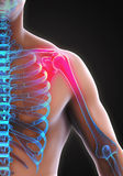 Painful Shoulder Illustration Royalty Free Stock Photo