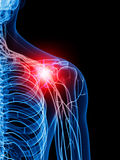 Painful shoulder Royalty Free Stock Photo