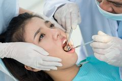 Painful tooth Stock Images