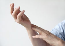 Painful wrist Stock Photos