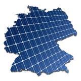 Painéis solares em um mapa abstrato de Alemanha Imagens de Stock Royalty Free