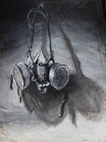 painitng маски противогаза Стоковое Фото