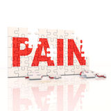 Painkiller puzzle on white floor Stock Photography
