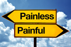 Painless or painful Royalty Free Stock Photography