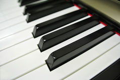 Paino Keys Stock Photography