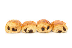 Pains au chocolat (french bakery products with chocolate) Royalty Free Stock Image