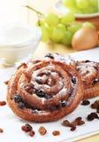Pains aux raisins. Puff pastry swirls with raisins Royalty Free Stock Image