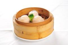 Pains cuits à la vapeur chinois de viande Photo stock