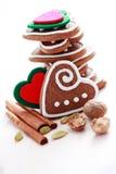 Pains d'épice de Noël photo stock