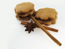 Pains d'épice et cannelle Photo stock