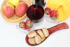 Pains d'épice et fruit de gare Image libre de droits