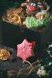 Pains d'épice modelés faits main de Noël Photo stock