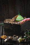 Pains d'épice modelés faits main de Noël Photos libres de droits