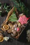 Pains d'épice modelés faits main de Noël Images stock