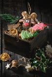 Pains d'épice modelés faits main de Noël Photos stock
