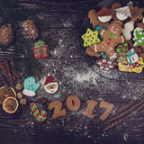 Pains d'épice pendant de nouvelles 2017 années Images libres de droits